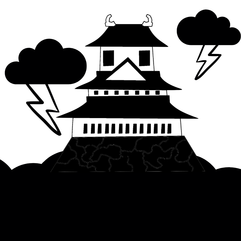 A Japanese Castle in the clouds
