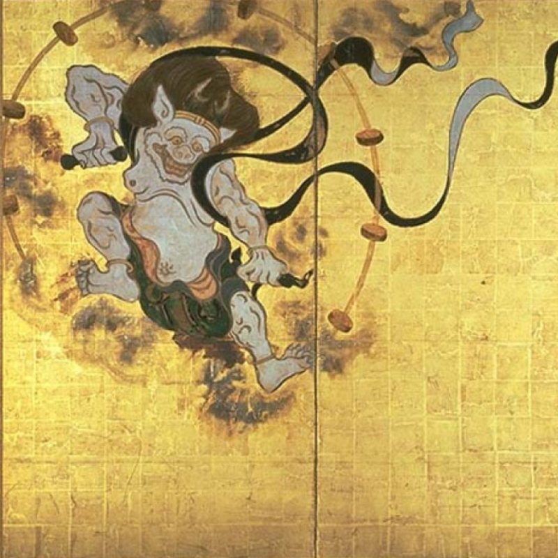 Raijin the Thunder God from Fūjin-raijin-zu by Tawaraya Sōtatsu