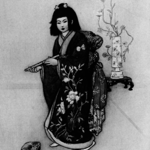 A girl holding a flute