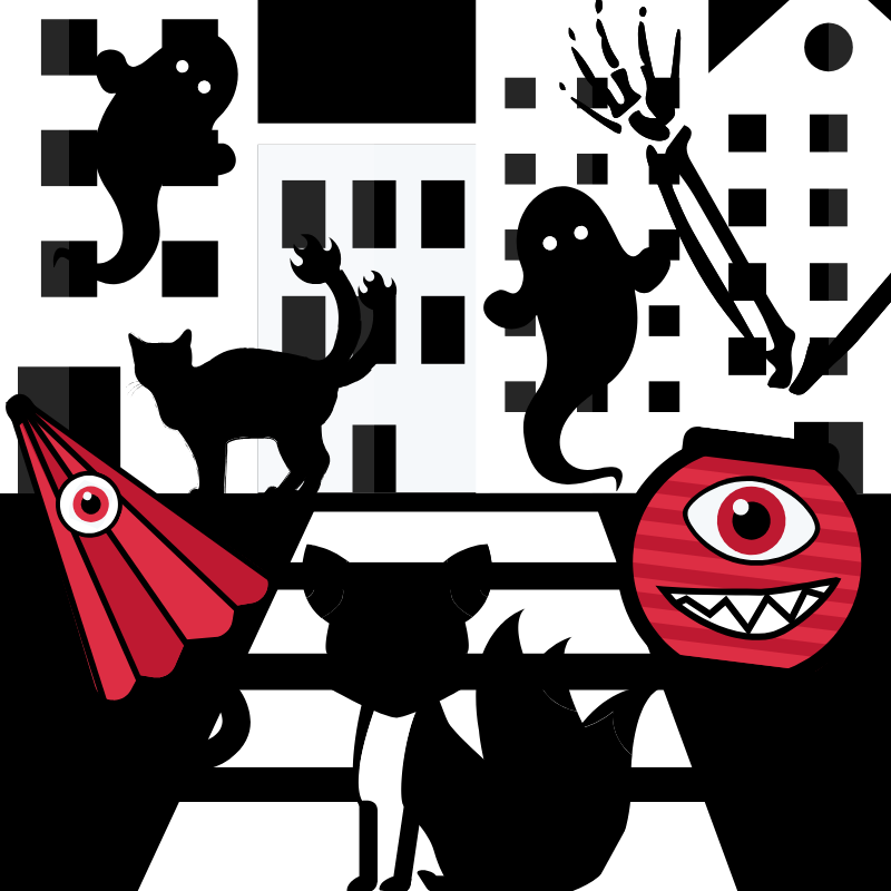 JAPAN Boys Illustrations Inspire by the Night Parade of One Hundred Demons Book