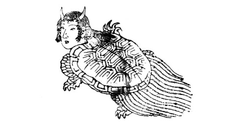 Depiction of the honengame, another predecessor to the amabie