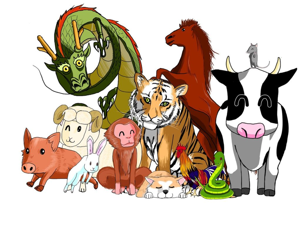 All animals of the zodiac